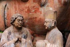 Carvings утеса Dazu, Чунцин, фарфор стоковые фотографии rf
