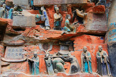 Carvings утеса Dazu, Чунцин, фарфор стоковое фото