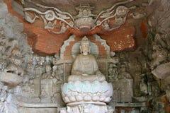 Carvings утеса Dazu, Чунцин, фарфор Стоковое Изображение RF