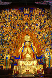 Carvings утеса Dazu, Чунцин, фарфор Стоковое фото RF