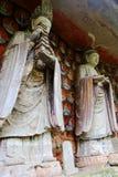 Carvings утеса Dazu, Чунцин, фарфор стоковые изображения