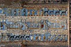 Carvings in ancient egyptian temple Royalty Free Stock Images