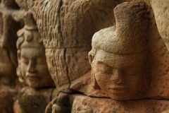 Carvings in Angkor Stock Photography