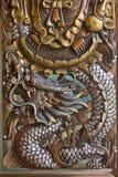 Carvings animais nas portas Imagem de Stock