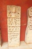 Carvings antigos dentro deste forte do século VIII impressionante M de Gwalior fotos de stock