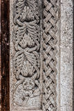 Carvings. Architectural details of an antique church located in grottaglie, italy Royalty Free Stock Photos