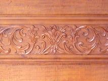 carvings av dekorativt blom- Arkivbild