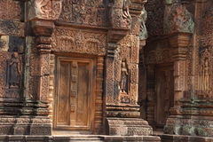 Carvings of  Banteay Srei Royalty Free Stock Photography