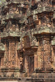 Carvings of  Banteay Srei Stock Photo
