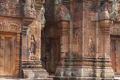 Carvings of  Banteay Srei Royalty Free Stock Images