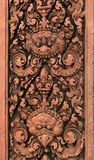 Carvings. Banteay Srei Temple. Angkor. Cambodia. Royalty Free Stock Photos