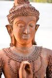 Carvings budistas orientais velhos da estátua Fotografia de Stock