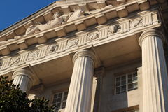 Carvings and columns of Washington, DC Stock Image