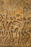 Carvings da parede de Angkor Wat Fotografia de Stock