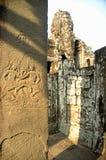 Carvings da parede do ANG Kor Wat imagens de stock royalty free