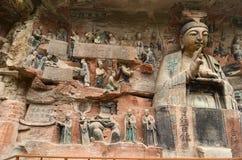 Carvings da rocha de Dazu Imagens de Stock