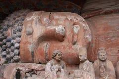 Carvings da rocha de Dazu Imagens de Stock Royalty Free