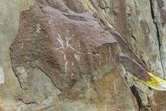 Carvings da rocha da montanha altai imagem de stock