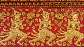 Carvings das mulheres em Wat Suandok, Chiangmai, Tailândia Fotos de Stock
