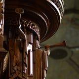 Carvings de madeira do anjo na capela de Rockefeller, Chicago Imagem de Stock