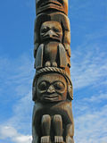 Carvings de pólo de Totem Foto de Stock Royalty Free