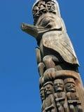 Carvings de pólo de Totem Fotografia de Stock