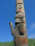 Carvings de pólo de Totem Imagem de Stock Royalty Free