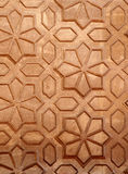 Carvings de pedra bonitos na parede de uma casa Imagem de Stock