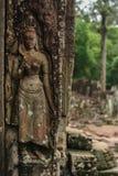 Carvings de pedra em Camboja Fotografia de Stock Royalty Free