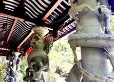 Carvings do jardim de Fukushuen, Okinawa imagens de stock