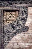 Carvings do Nepali Foto de Stock Royalty Free