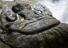 Carvings do rio de Kbal Spean imagem de stock