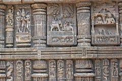 Carvings do templo Hindu Foto de Stock Royalty Free
