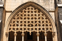 Carvings in Dominican monastery in Batalha, Portugal Royalty Free Stock Images