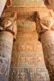 Carvings e colunas Imagem de Stock
