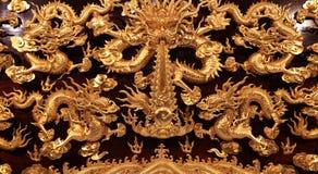Carvings e sclupture chineses bonitos imagem de stock