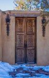 Santa Fe door in New Mexico Southwest decor stock photography