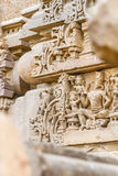 Carvings at the Harshat Mata Temple Royalty Free Stock Photos