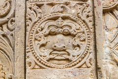 Carvings at the Harshat Mata Temple Stock Photography