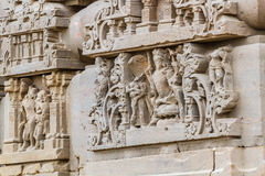Carvings at the Harshat Mata Temple Stock Photos
