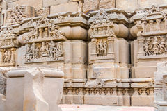 Carvings at the Harshat Mata Temple Royalty Free Stock Photography