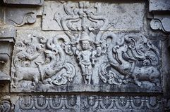 Carvings Kopeshwar tempel, Khidrapur, kolhapur, Maharashtra Indien arkivbilder