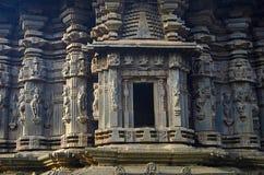 Carvings Kopeshwar tempel, Khidrapur, kolhapur, Maharashtra Indien royaltyfri bild