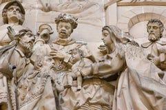 carvings kyrktar klosterbroder Royaltyfri Bild