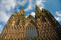 Carvings of lichfield Royalty Free Stock Images