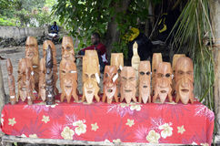 Carvings. Carvings by local ingenious natives, and also for sale at the Champagne Bay Market in Vanuatu, South Pacific. The Market is a way they can show off Royalty Free Stock Photos
