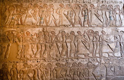 Carvings at Medinet Habu Royalty Free Stock Image