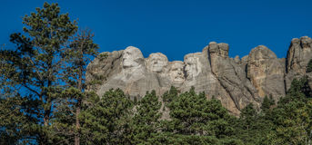 Carvings at Mount Rushmore in South Dakota. Carvings of the presidents at Mount Rushmore near Rapid City, South Dakota Royalty Free Stock Image