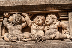 Carvings of Mythical Creatures. Carving of dwarf-like Yakshas at the Kelaniya temple in Sri Lanka Royalty Free Stock Photos