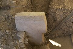 Free Carvings On Stone Monolith At Gobekli Royalty Free Stock Photos - 198844238